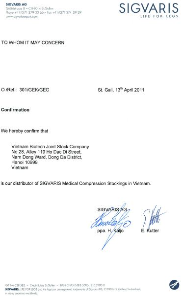 Biotech Vietnam becomes the sole distributor of SIGVARIS